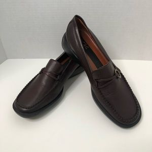 BCBG Paris Leather Loafers with Rubber Sole